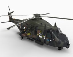 NH90 Transport Helicopter 3D Model