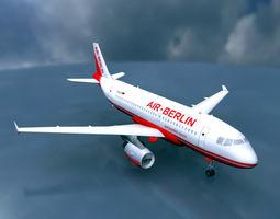 Airbus A319 Air Berlin 3D Model