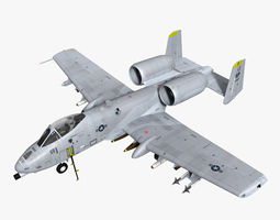 A10C Warthog 3D Model