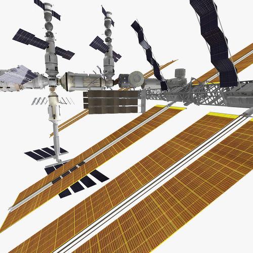 Realistic International Space Station 3D Model .max .obj ...