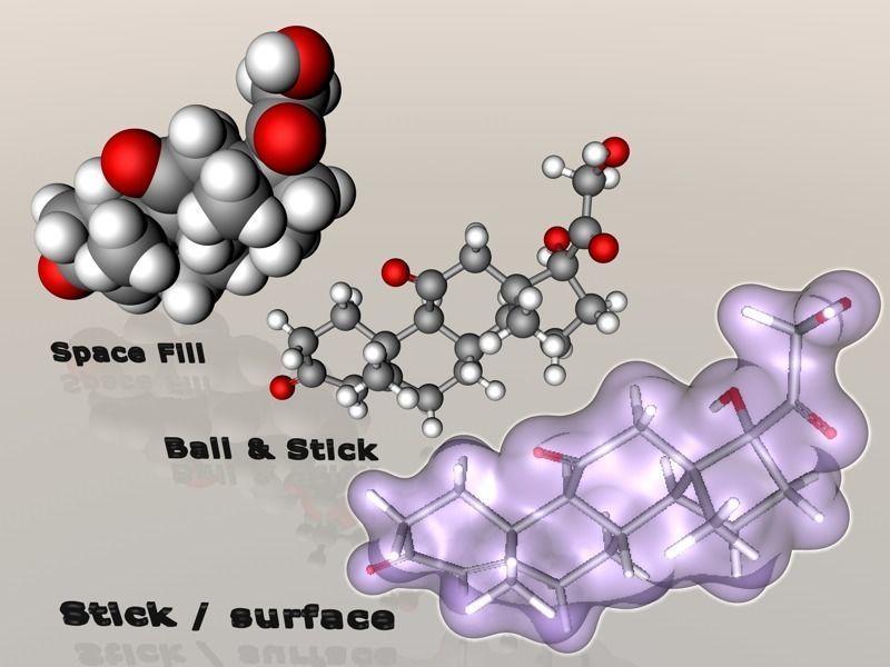 Cortisone molecule