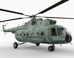 Mil MI8 Transport Helicopter 3D Model