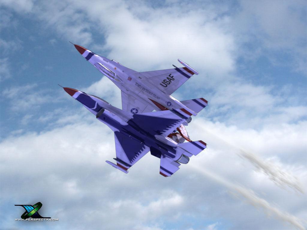 F16 Fighting Falcon USAF Thunderbirds 3D Model .max .obj ...