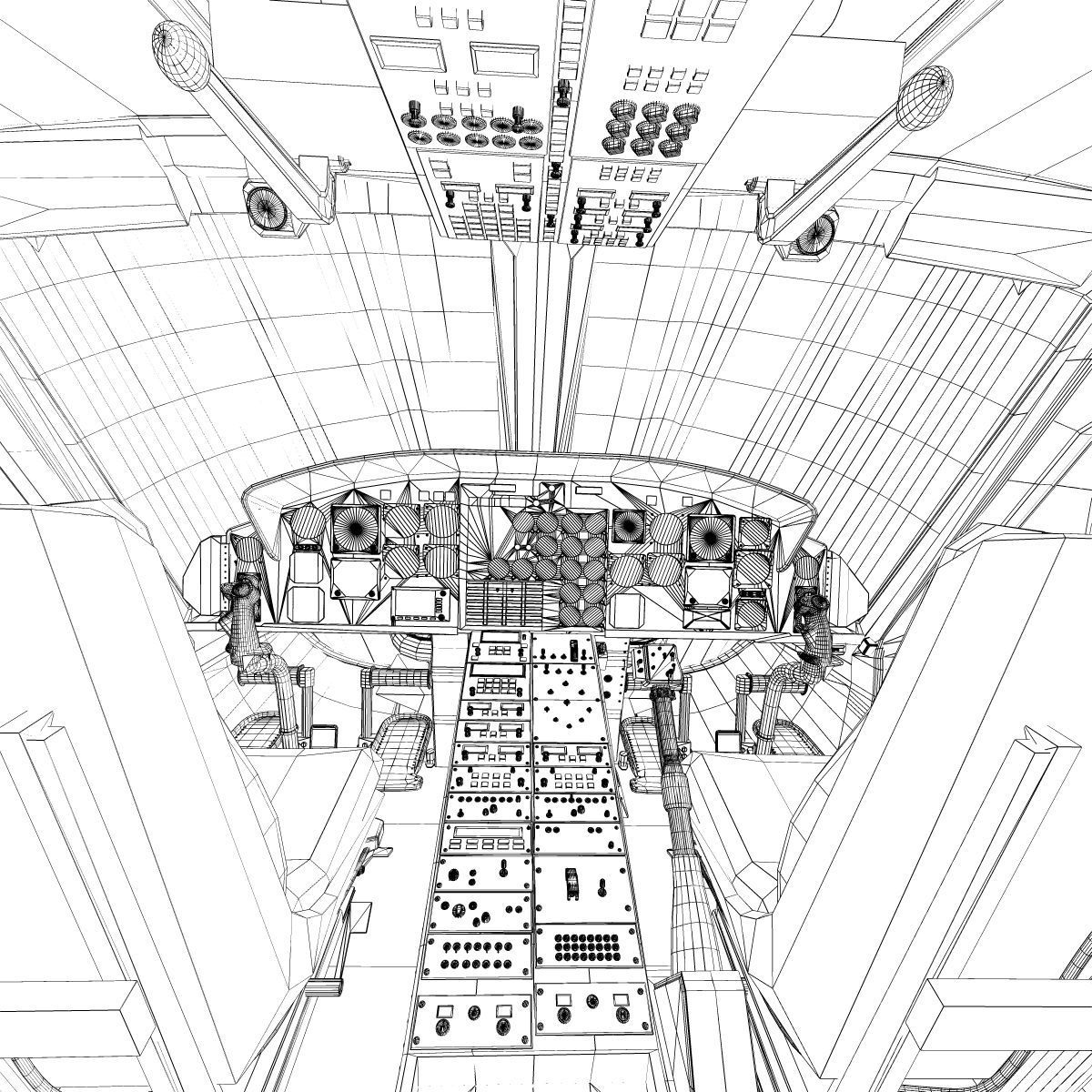 bell 412 simulator 3d model  max  3ds  fbx  c4d  lwo  lw