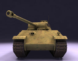 Panther G Tank 3D Model