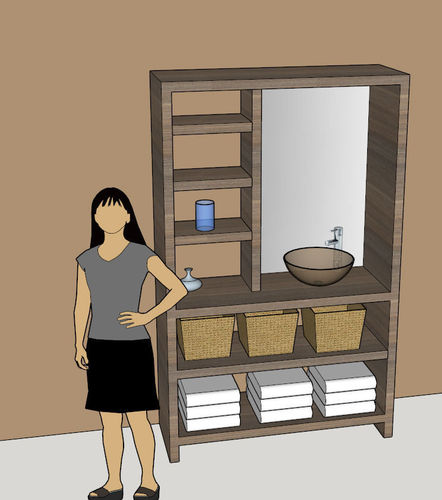 Hutch with sink 3d model cgtrader for Sketchup bathroom sink
