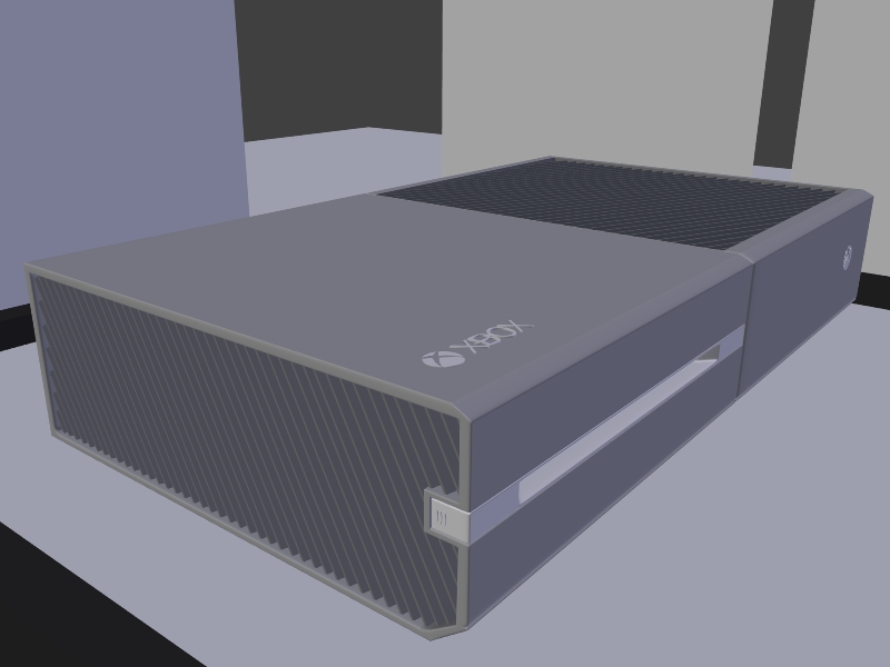 xbox one 3d model 3d model of the new xbox one console modelled in