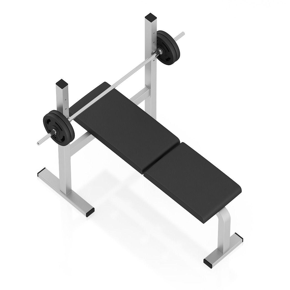 Flat Weight Bench 3d Model Max Obj Fbx C4d
