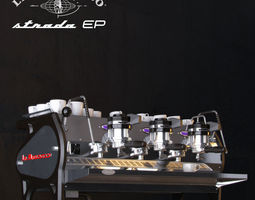 la marzocco strada coffee machine 3d model