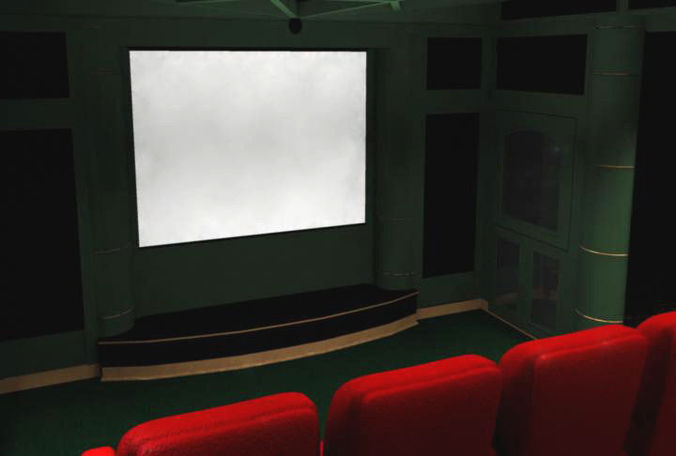 Home Theater Room3D model