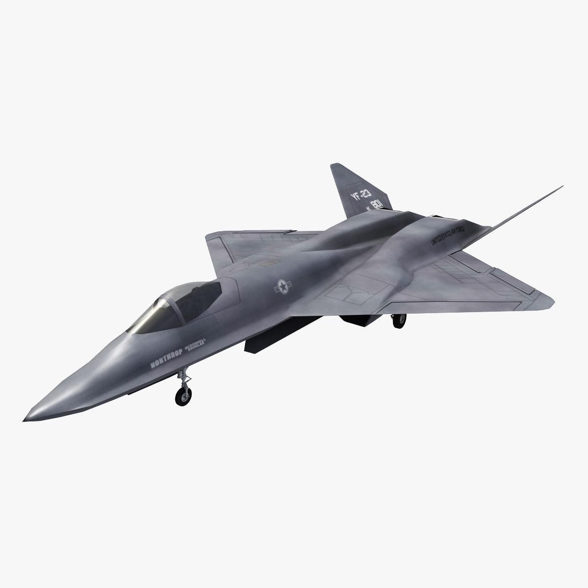 Northrop YF23 Black Widow 2 3D Model .max .obj .3ds .fbx .c4d .lwo .lw .lws - CGTrader.com