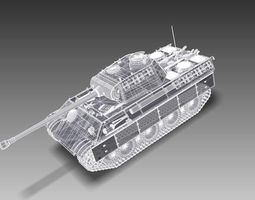 Panther A Tank 3D Model