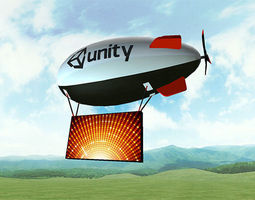 3D asset Blimps and Airships Pack