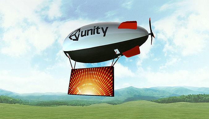 blimps and airships pack 3d model low-poly animated fbx ma mb 1