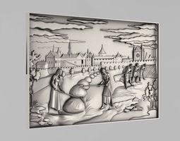 carved panels - 7 3d print model