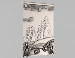 carved panels - 9 3d print model
