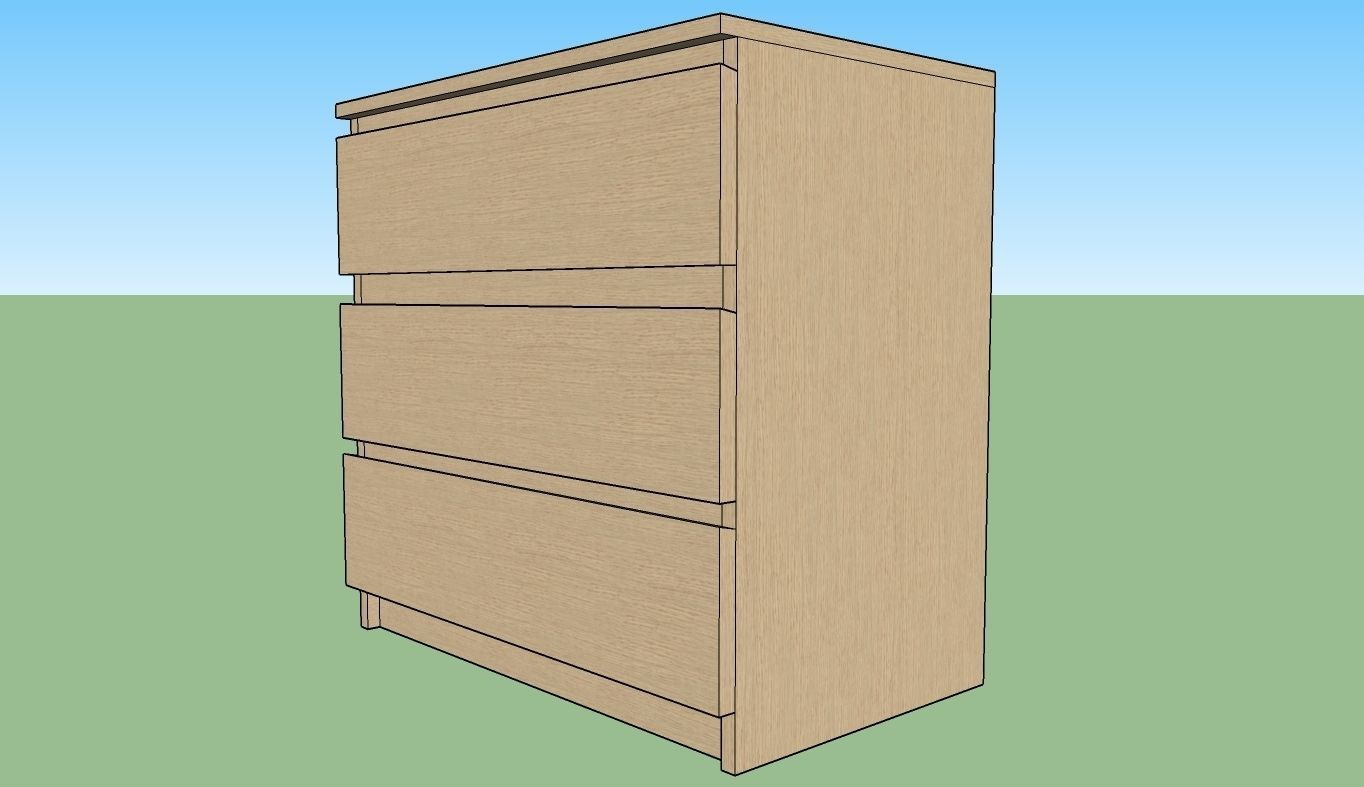 chest of drawers 1 ikea malm 3. Black Bedroom Furniture Sets. Home Design Ideas