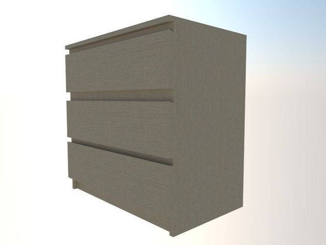 Chest of Drawers 1 - IKEA MALM 33D model