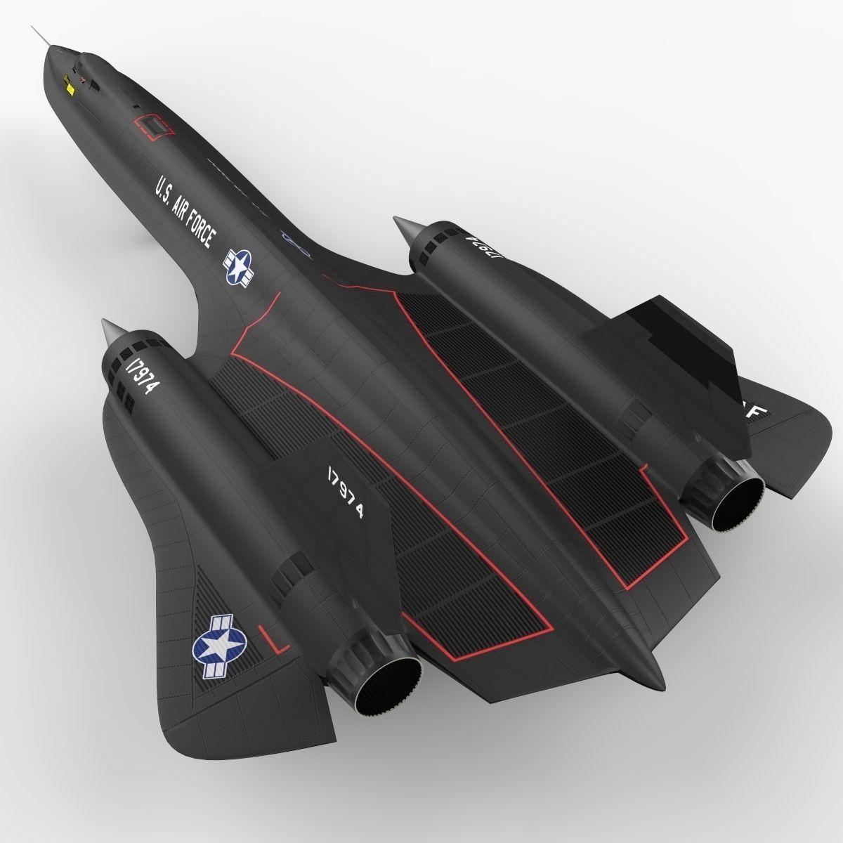 3d sr-71 spy plane model