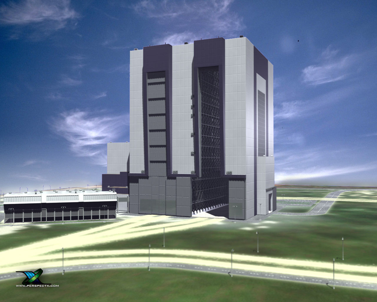 Vehicle Assembly Building 3D Model .max .obj .3ds .c4d .lwo .lw .lws .ma .mb - CGTrader.com