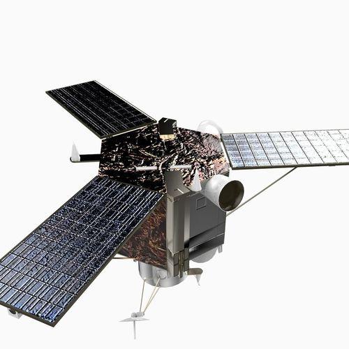 Satellite Panels Texture : Ikonos observation satellite d model max obj ds c