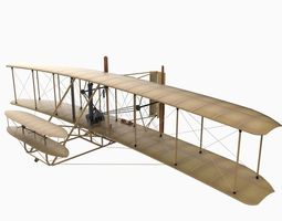 Wright Brothers Flyer 3D Model