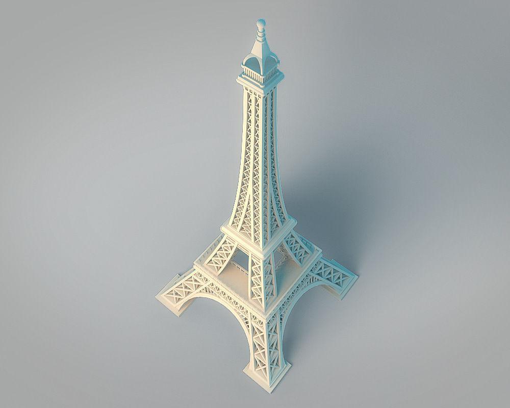Eiffel Tower 3D Model 3D printable .stl - CGTrader.com
