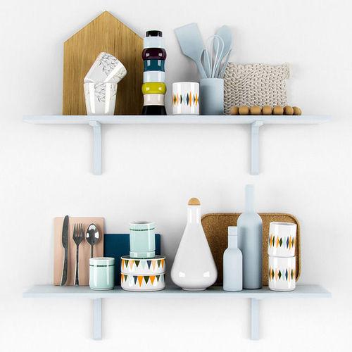 Kitchen scandinavian decorative set3D model