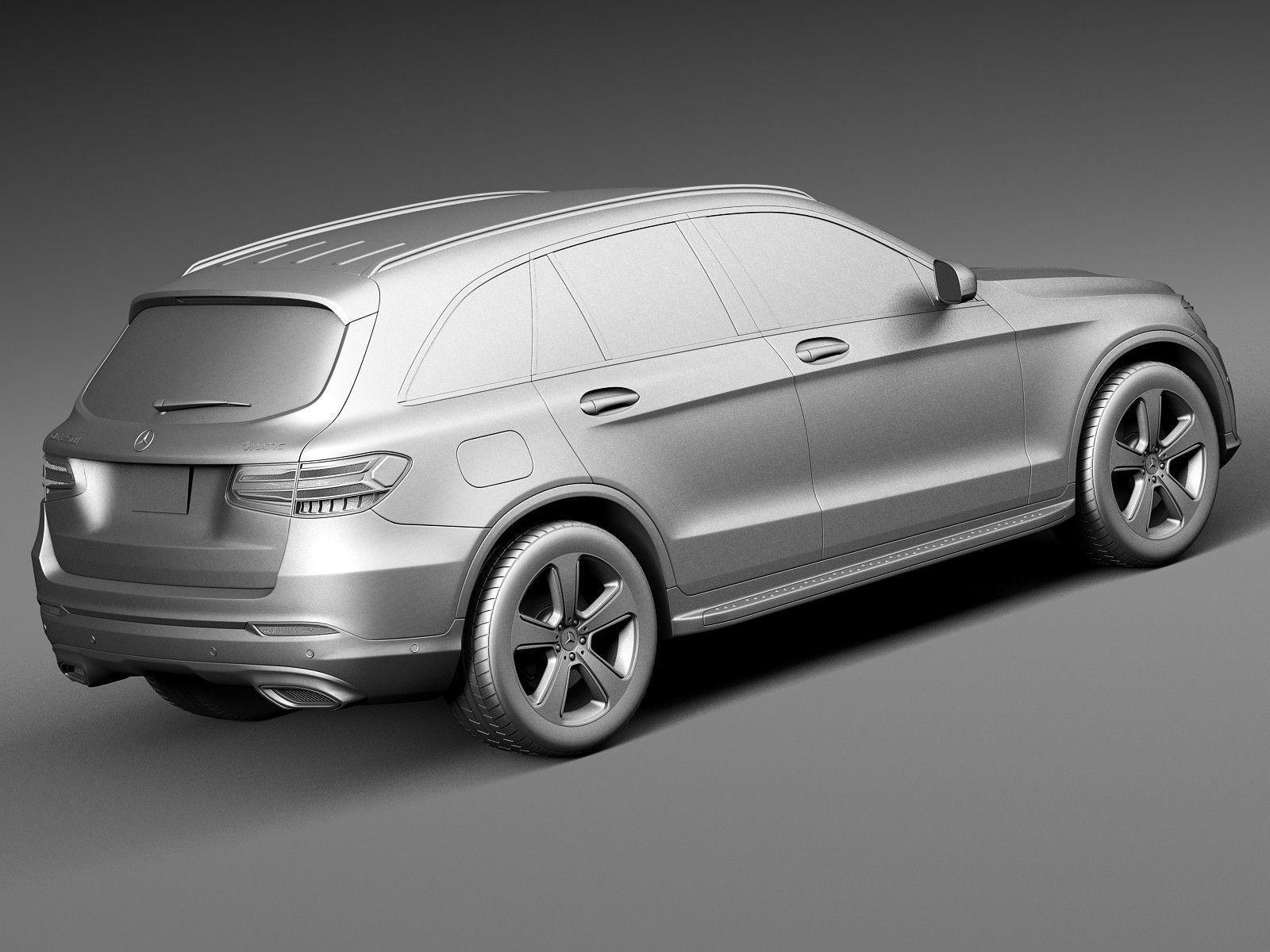 Mercedes benz glc 2016 3d model max obj 3ds fbx c4d for Mercedes benz new model
