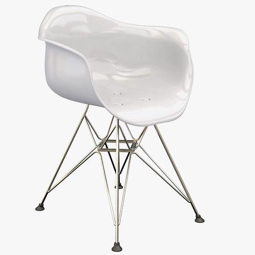 eames plastic armchair dar 3d model max fbx. Black Bedroom Furniture Sets. Home Design Ideas