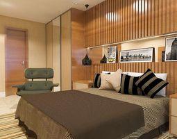 3D sketchup bedroom