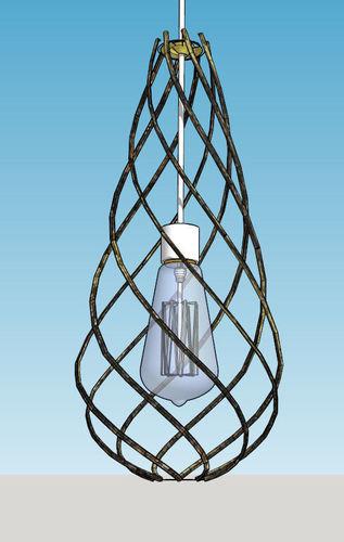 Teardrop pendant lamp3D model