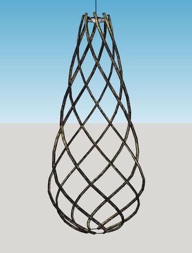 Teardrop Spiral Shade Hanging Lamp3D model