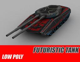 tank sci-fi 3d model realtime