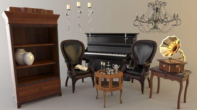 Dining Room Set3D model