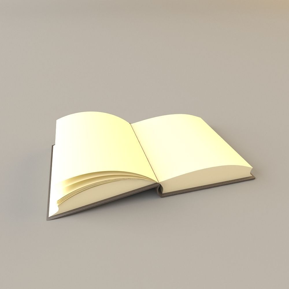 open book 3d model max obj mat 1