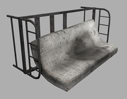 dirty mattress game-ready 3d model