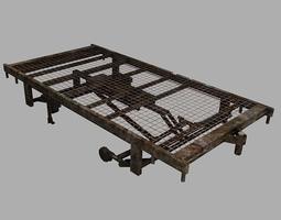 3D model Old Hospital Bed Frame