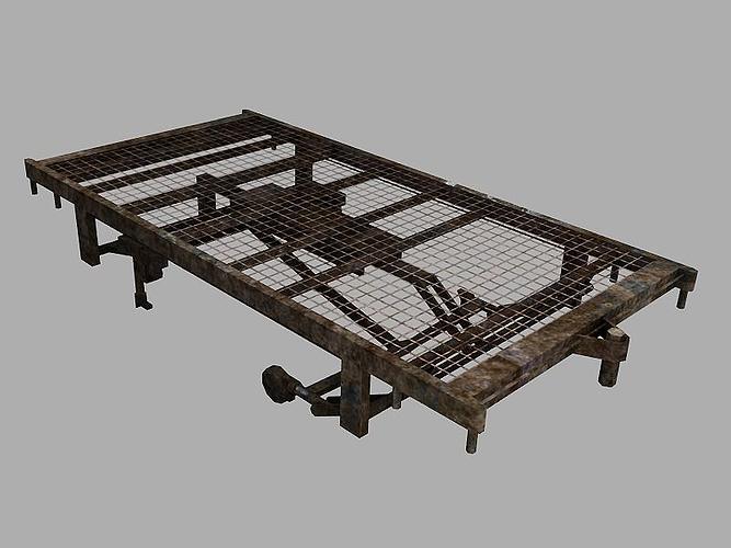 old hospital bed frame 3d model low-poly obj mtl ma mb tga 1