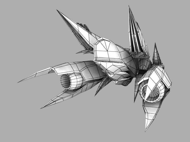 stinger aircraft 3d model game ready  obj  ma  mb  tga