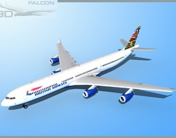 Falcon3D A340-600 British Airways rigged