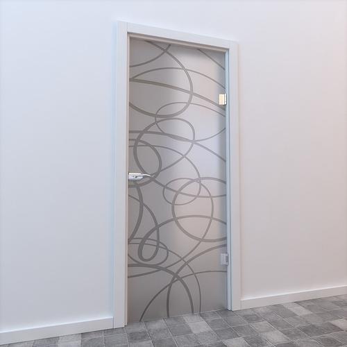 glass door standart 3d model max mat 1