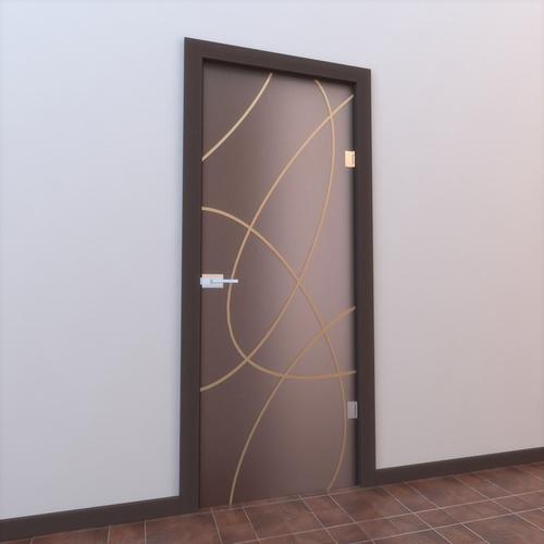 Glass Door Monoblock 0023D model