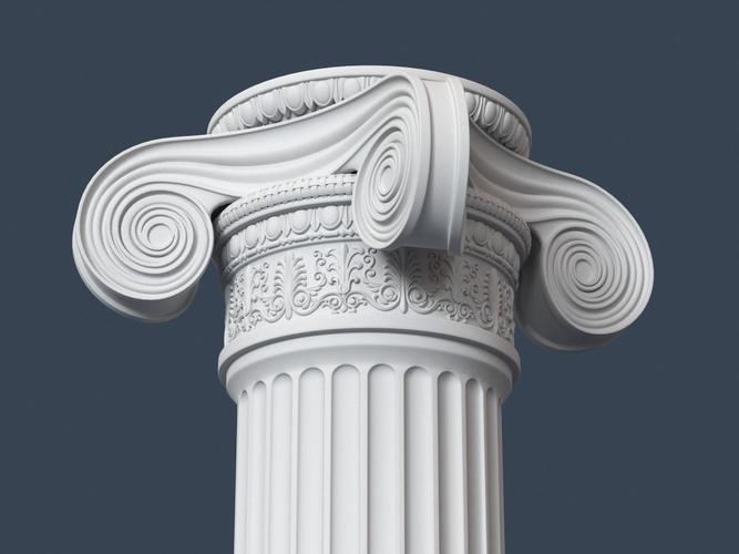 Ionic Column 0023D model