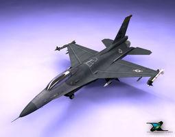 F16 Fighting Falcon USAF Version 3D Model