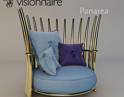 3D Visionnaire Panarea armchair