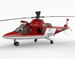 Agusta A109 Helicopter 3D Model