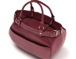 3D model low-poly Ladies Hand Bag 03