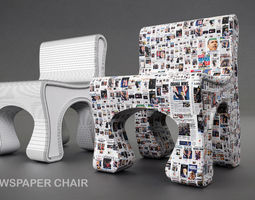 3D OBAMA NEWS CHAIR