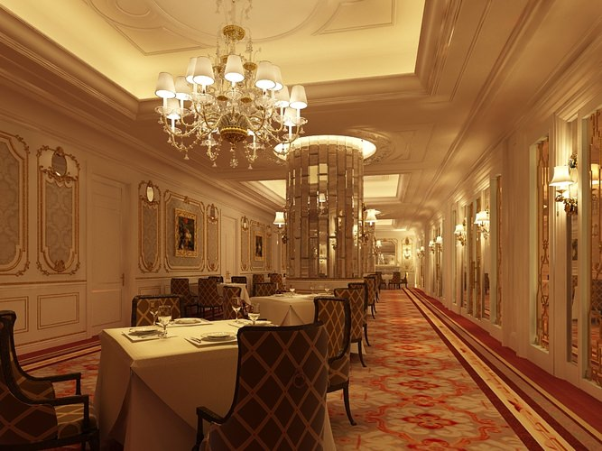 Photorealistic Restaurant Interior Scene3D model